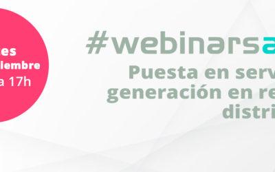 #webinarsAELEC:  «Puesta en servicio de generación en redes de distribución»