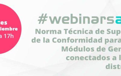 #webinarsAELEC:  «Norma Técnica de Supervisión de la Conformidad para nuevos Módulos de Generación conectados a la red de distribución»